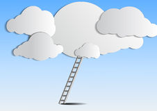Ladder to cloud on sky Royalty Free Stock Photography