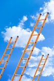 Ladder to the clouds. Ladder leading up to the sky Royalty Free Stock Photos