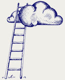 Ladder to clouds Royalty Free Stock Images