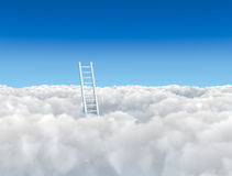 Ladder to the clouds Royalty Free Stock Photography