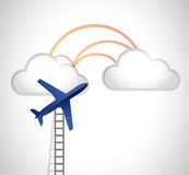 Ladder to the clouds illustration design Stock Image