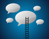 Ladder to communicate concept. Illustration design graphic Royalty Free Stock Images