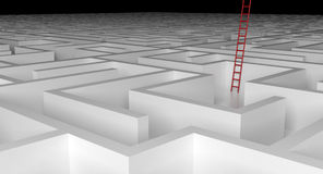Ladder to escape the maze Royalty Free Stock Photography