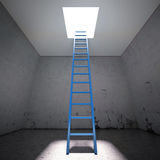 Ladder to the exit the dark Royalty Free Stock Images