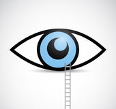 Ladder to eye illustration design Royalty Free Stock Photography