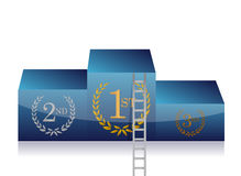 Ladder to first place in podium. concept. Illustration design over a white background Royalty Free Stock Photo
