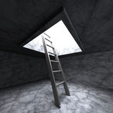 Ladder To Freedom Success Light Hole Royalty Free Stock Image