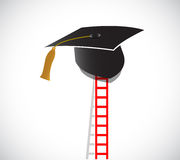 Ladder to graduation. illustration design Royalty Free Stock Photos