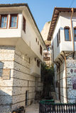 Ladder to the hill on a narrow street in the city of Melnik in Bulgaria Stock Images