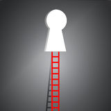 Ladder to key hole illustration design Royalty Free Stock Photos