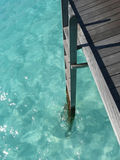 Ladder to maldives sea. Ladder down into Maldives sea Royalty Free Stock Photography