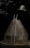 Ladder to the moon Stock Image
