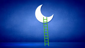 Ladder to moon Stock Photos