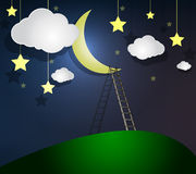 Ladder to the Moon Royalty Free Stock Photos