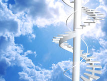 Ladder to paradise. Conceptual image - ladder to paradise Stock Photography