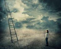 Ladder to paradise vector illustration
