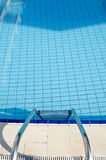 Ladder to pool Stock Photo