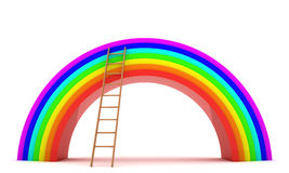 Ladder to the rainbow Royalty Free Stock Image