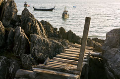 Ladder to the sea Stock Photography