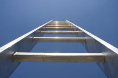 Ladder to sky. Ladder to clear blue sky Royalty Free Stock Image