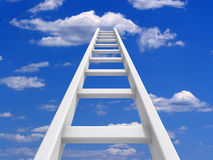 Ladder to sky Stock Image
