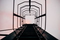 Ladder to sky Royalty Free Stock Image