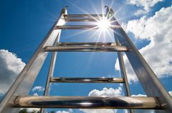 Ladder to the sky. Ladder to the clear blue sky Stock Photography