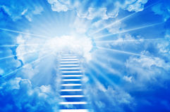 Ladder to Sky Royalty Free Stock Images