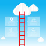 Ladder to sky and cloud infographic data bubble template - vecto Stock Photo