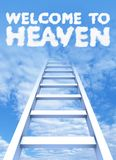 Ladder to sky Stock Images