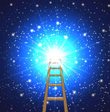 Ladder to a star in space Stock Images