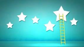 Ladder to stars Stock Photo