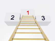 Ladder to success. 3D render Stock Image