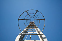 Ladder to success. Ladder against a blue sky Royalty Free Stock Images
