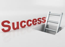 Ladder to success Royalty Free Stock Photos