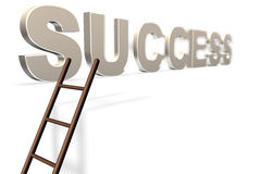 The Ladder to Success Gold Stock Images