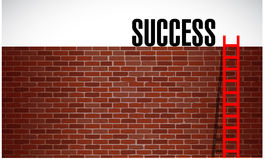 Ladder to success illustration design graphic Stock Image