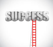 Ladder to success illustration design Stock Photo