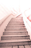 Ladder to Success : stair and beautiful cloud and sky Royalty Free Stock Image