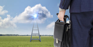 Ladder to a successful career Royalty Free Stock Image