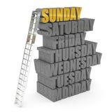 Ladder to sunday Stock Photos