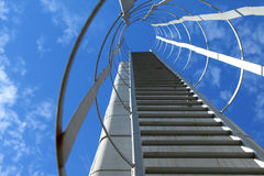 Ladder to the top. Industrial metal ladder, sky is the limit Royalty Free Stock Photos