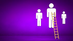 Ladder to top Stock Photo