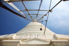 Ladder to Top of White Pagoda at Wat Prayurawongsawas Worawiharn Stock Image