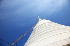 Ladder to Top of White Pagoda at Wat Prayurawongsawas Worawiharn Royalty Free Stock Photo