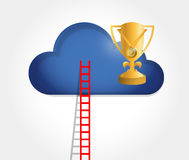 Ladder to a trophy cloud. illustration design Royalty Free Stock Photos