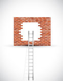 Ladder to wall illustration design Royalty Free Stock Photo