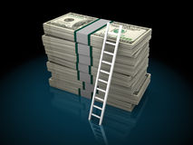 Ladder to wealth Stock Photo