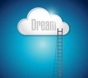 Ladder to your dreams. illustration design Royalty Free Stock Photos