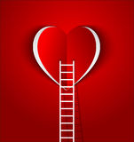 Ladder to your heart Royalty Free Stock Photography